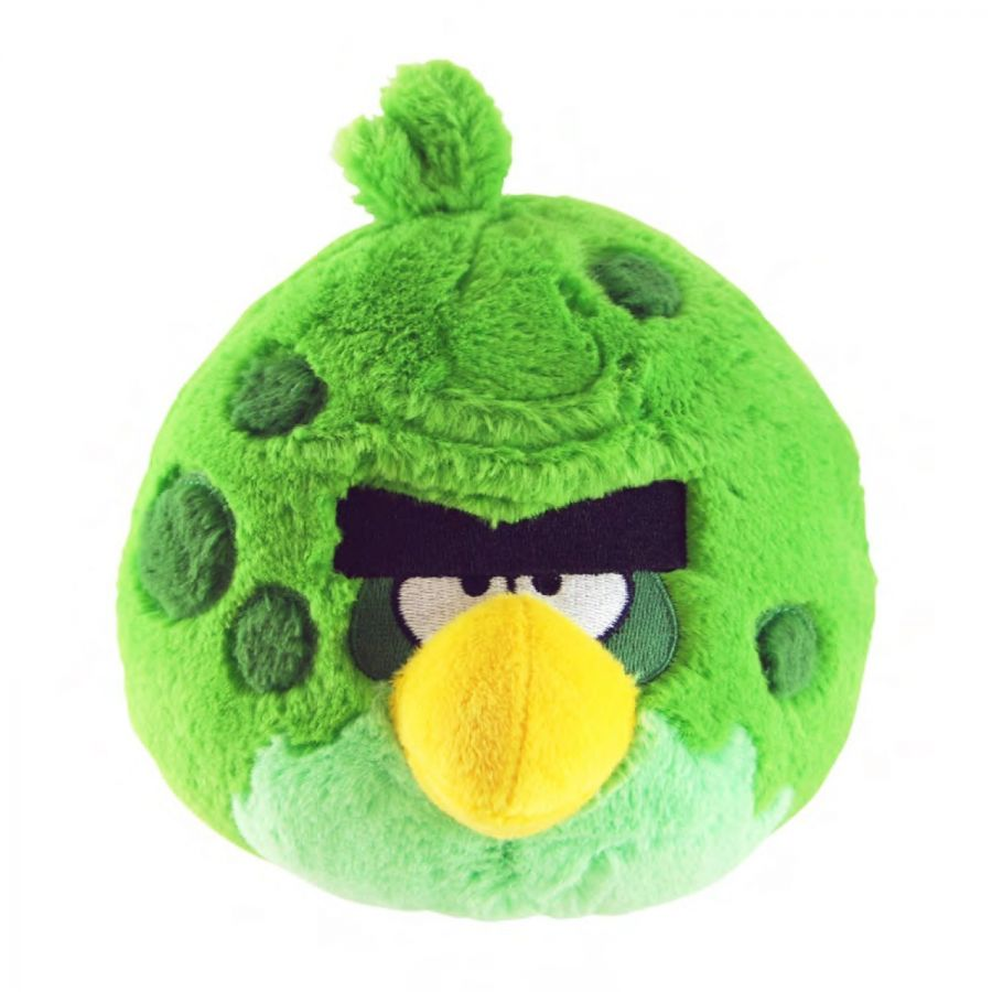 Мягкая игрушка Angry Birds Space 5-Inch Green Bird with Sound
