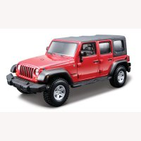 Авто-конструктор (1:32,1:43) Bburago JEEP WRANGLER UNLIMITED RUBICON (красный,1:32)