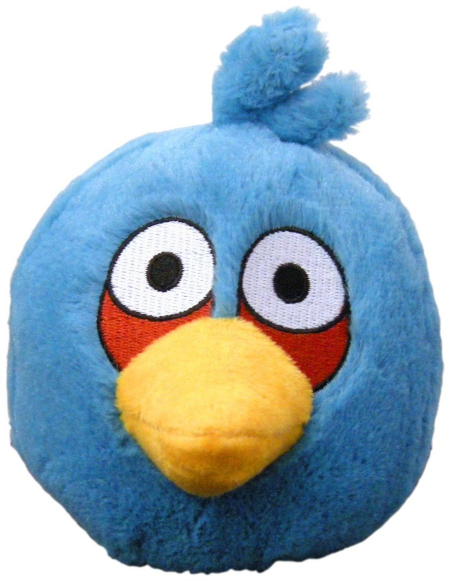 Мягкая игрушка Angry Birds Plush 5-Inch Blue Bird with Sound