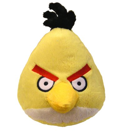 Angry Birds Plush 8-Inch Yellow Bird with Sound