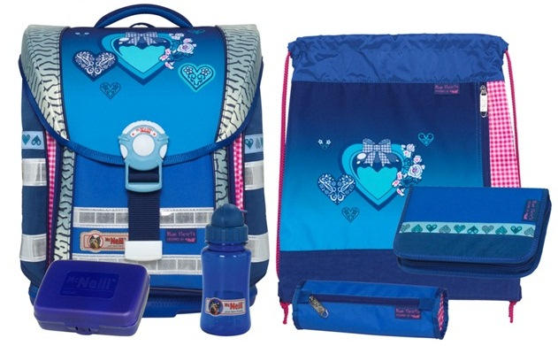 Школьный ранец McNeill BLUE HEARTS ERGO Light COMPACT (арт.9560122000)