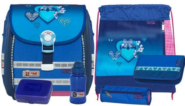 Школьный ранец McNeill BLUE HEARTS ERGO Light 3000 (арт.9575122000)