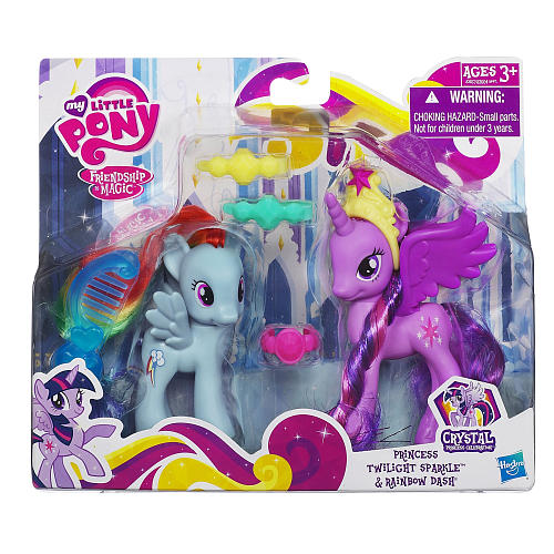 My Little Pony Princess Figures 2-Pack - Twilight Sparkle and Rainbow Dash